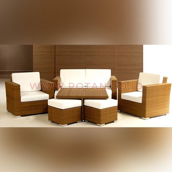 Kursi Sofa Boston Rotan
